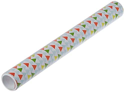 Clairefontaine 223869C Excellia Tiny Rolls - Rollo de papel de regalo (5 x 35 cm (especial pequeño) 80 g, triángulos multicolores