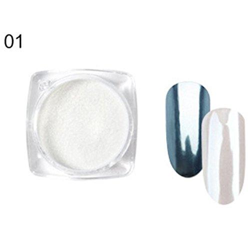 Hunpta 9 Couleur Paillettes Flocons en aluminium effet miroir magique Coque poudres Paillettes Vernis à ongles