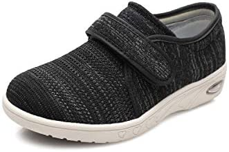 DENACARE Women's Wide Width Shoes with Adjustable Closure Lightweight for Diabetic Edema Plantar Fasciitis Bunions Arthritis Swollen Feet-SW3
