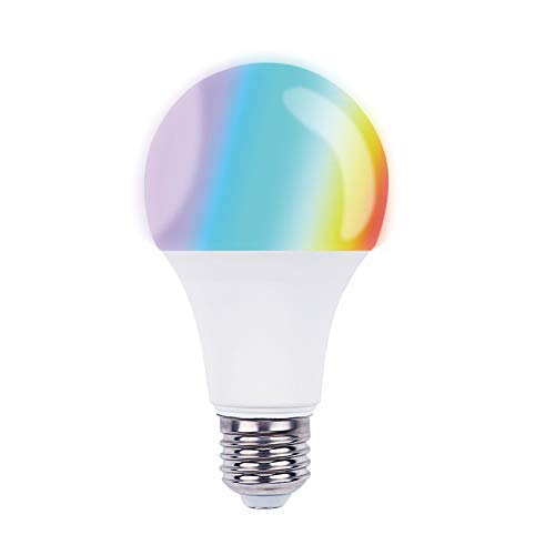 Smart Bulb, Wigbow WI-FI Led Light Bulb Color Changing 5000K [A19 7W] 70Watts Equivalent. Mood Light Bulbs That Compatible with Alexa/Google Home [Dimmable] [Remote Control] [No HUB].