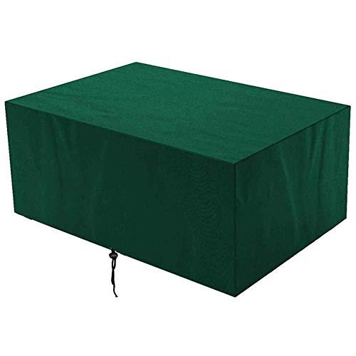 Cubierta para muebles de jardín, Green, 240x240x85cm, impermeable, a prueba de viento, anti-UV, cubierta de mesa rectangular de tela Oxford para exteriores, cubierta para muebles para sofás y