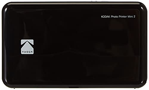 Kodak HD Wireless Portable Mobile Instant Photo Printer, Print Social Media Photos, Premium Quality Full Color Prints. Compatible w/iOS and Android Devices (Black)