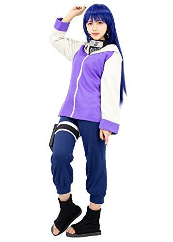 DAZCOS Damen Anime Lila Hinata Cosplay Frauen XXL Lila