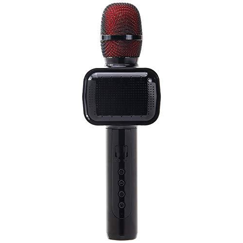 LYXLQ Micrófono de Mano inalámbrico, conexión inalámbrica Bluetooth 4.2, 7 Luces LED, Escucha y grabación simultáneas Micrófono inalámbrico Compatible con Varios Equipos de Karaoke,A