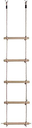 ZY Kletterseilleiter Für Kinder, Schwingende Aufh ungsrahmensportseilleiter Ausgerüstet Mit H erner Leiter Für Innenau kletternspielwaren,Large