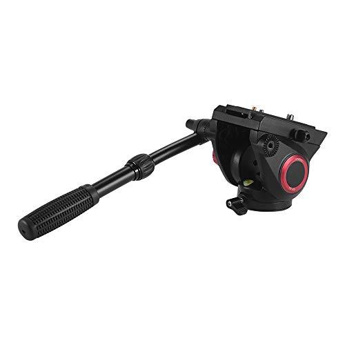Andoer TP-65 Testa a Fluida Tridimensionale 360 ° Ripresa Panoramica Lega di Alluminio Fluid Drag Idraulico per la Fotografia e Video Recording Capacità di Carico Max 15 kg Regolabile Retrattile