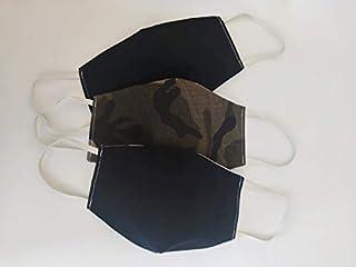 mascherine lavabili 3 pezzi da uomo in doppio cotone e filtro in TNT non removibile lavabili riutilizzabili double face