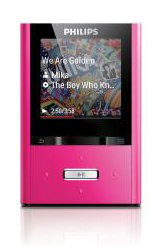 Philips GoGear SA2VBE04P/02 Vibe MP4-Player, 4 GB, Rosa