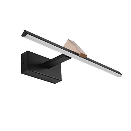 MantoLite LED Wandleuchte Bild Licht,Einstellbar Modern Badezimmer Lampe Nachttisch Leseleuchte Spiegel Leuchte Artwork Beleuchtung Fixture Für Wohnzimmer Flurtreppen, 6W 4000K 40CM Schwarzes Finish