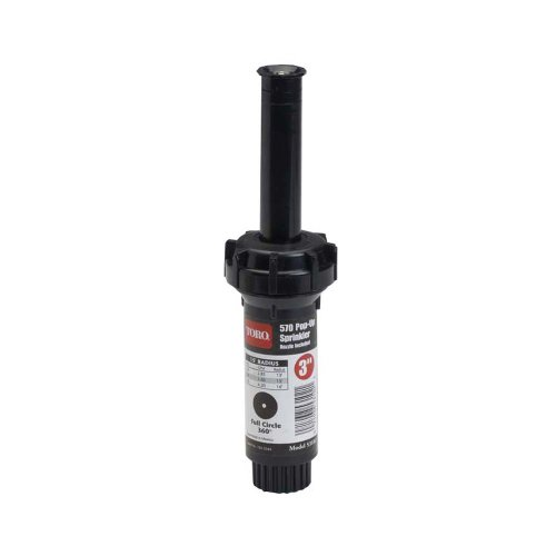 Toro 53817 3-Inch Pop-Up Fixed-Spray with Nozzle Sprinkler, 360-Degree, 15-Feet