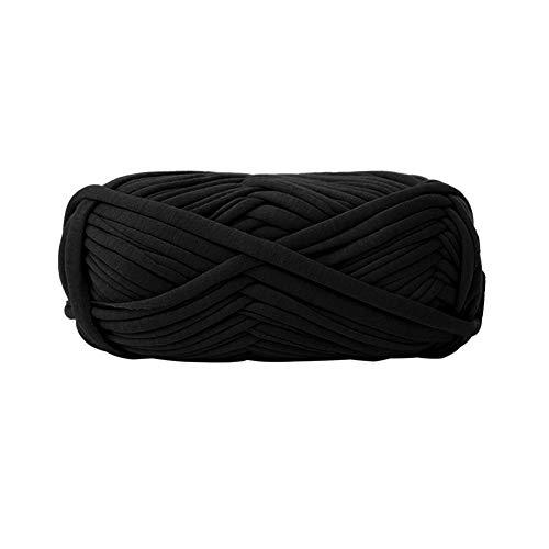 T-Shirt Yarn DIY Handbag Knitting Thread Crocheting Ribbon Yarn Knitting Yarn Ball Thick Chunky Yarn Black