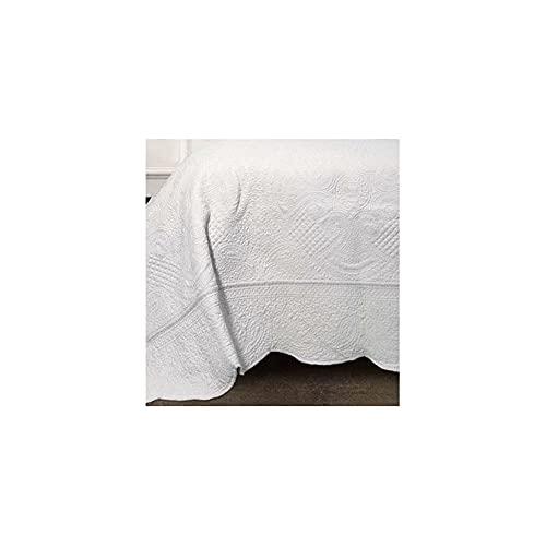 L'ATELIER17 Nantesmart - Colcha para cama de matrimonio, algodón, 260 x 260 cm