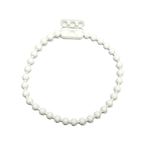 Faire des Rideaux Chaînette pour Store Coloris Blanc - Lot de 3m avec 1 raccord