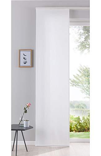 Gardinenbox Flächenvorhang Schiebegardine Cationic Blickdicht Leinen Optik Natura seidenmatt, HxB 245x60 cm, Natur Landhaus Stil, 204411