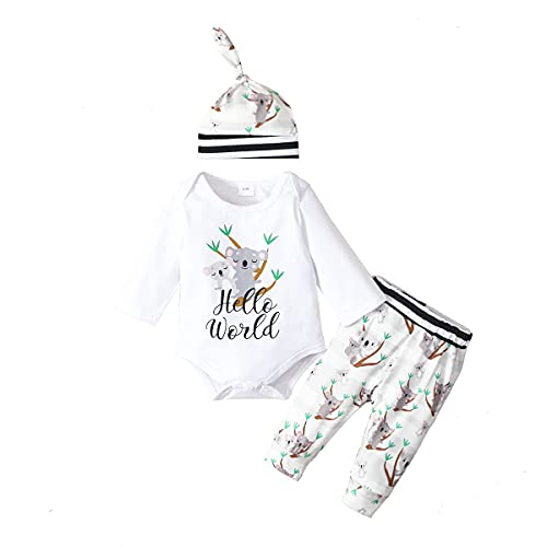 MAINESAKA Newborn Baby Girls 3pcs Outfit Set