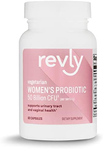 Amazon Brand - Revly One Daily Women's Probiotic, Support Urinary Tract and Vaginal Health, 50 Billion CFU (7 strains), Lactobaccilus and Bifidobacteria blend, 30 Capsules, Satisfaction Guaranteed