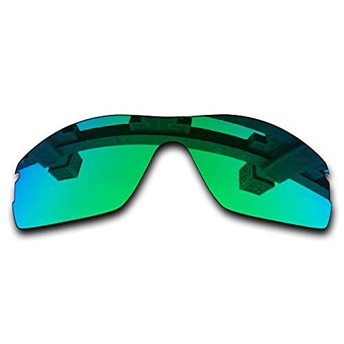 SYEMAX Lentes de repuesto polarizadas para espejo compatibles con Oakley Radar Pitch Sunglass - Múltiples opciones, (Verde zafiro polarizado), Talla única