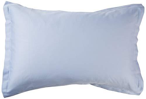 ESSIX Taie d'oreiller uni, Satin de Coton, Bleu de Provence, 50x75 cm