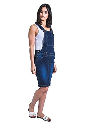 USKEES Rosie Umstands-Latzhose Darkwash Umstandskleid Umstandsmode Damenmode Rosie-XXL