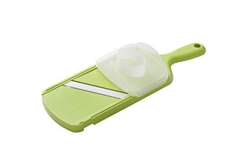 KYOCERA - CSN202GR - Mandoline réglable verte avec protège doigts et lame céramique haut de gamme - ultra tranchante et résistante