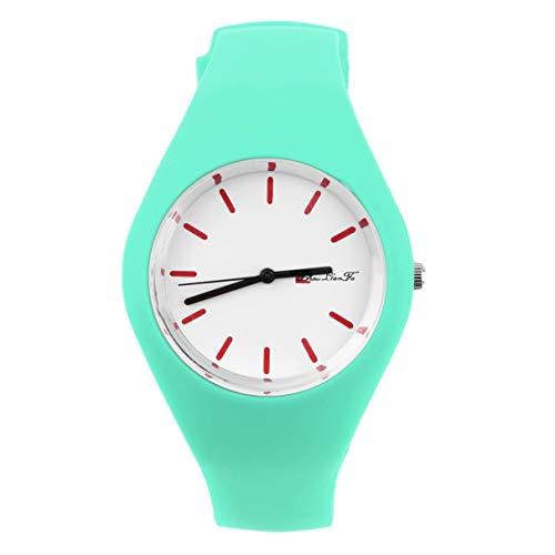 NNA Moda Hombres Mujeres Correa de Silicona Dial Redondo Deporte Ocio Reloj de Pulsera Joyería para niñas Mujeres Reloj de Pulsera Redondo Calidad Mundial