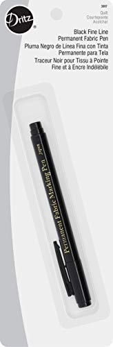 Dritz 3087 The Fine Line Permanent Fabric Marker, Black
