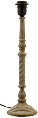 Better & Best 1831093 – lampe de table avec tube type colonne noue victor avec Base ronde, Couleur bois naturel