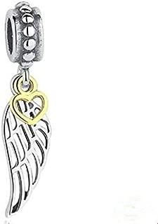 NEW Fashion Heart Wing European CZ Charm Spacer Beads Fit Necklace Bracelet пјЃпјЃ