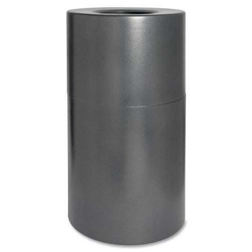 Genuine Joe Classic Cylinder Gray Waste Receptacle