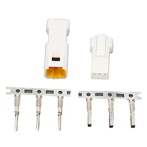 LIXUDECO 1 Conjunto de Conectores automotrices de Tipo JST02R-JWPF-VSLE 2/3/4/6/8 Pin Conectores Impermeables Masculinos y Femeninos (Color : 1 Set JST 3Pin)