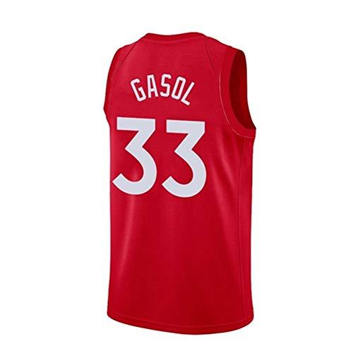 YANZZ Jersey Men's Jersey-Marc Gasol # 33 Lakers Team Ballball Jersey, Chaleco sin Mangas Transpirable Bordado (Color : F, Size : XX-Large)