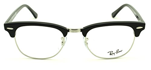 Ray-Ban RX5154 2000 Clubmaster Unisex Eyeglasses Shiny Black Frame 51mm