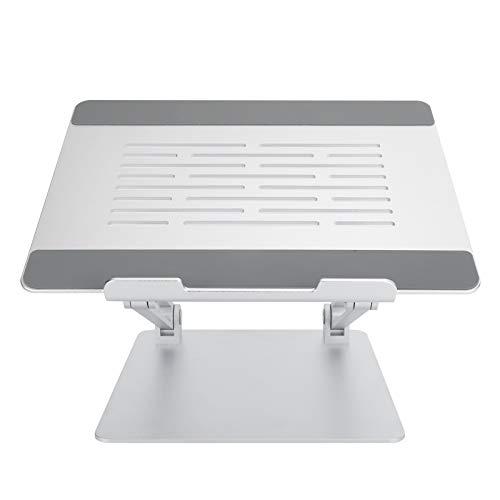 Rack de refrigeración para computadora, suministros de computadora fáciles de plegar, soporte para computadora portátil, para computadora de soporte para computadora portátil(Silver)