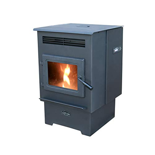 Cleveland Iron Works PS60W-CIW Medium Pellet Stove, WiFi Enabled, Black