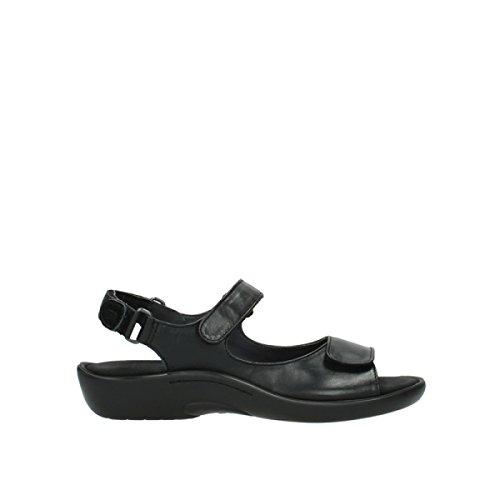 Wolky Comfort Sandalen Salvia - 30000 schwarz Leder - 38
