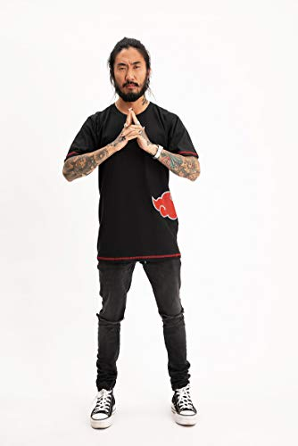 Camiseta Naruto Dupla Face, Piticas, Unissex, Preto, XGG