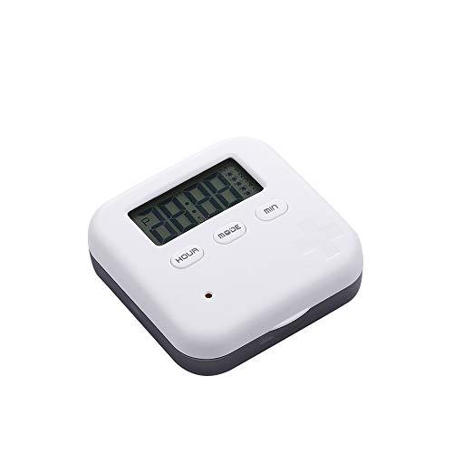 LUCKYGBY Automatischer Elektronischer Tablettenspender Mit Alarmanzeige, Zeitschaltuhr Für Wecker Mit 4 Fächern, Aufbewahrungsbox Für Pillen, Tragbare Digital Reise-Pillendose