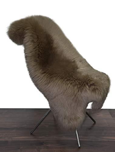Moro-Design Australisches Merino Lammfell Schaffell nutria Leder Teppich Fell gefärbt seidig (91-100cm)