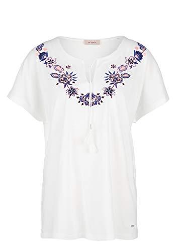 TRIANGLE Damen Shirt mit Stickerei White 50