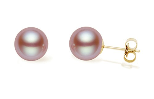 14K Gold AAA Quality Cultured Freshwater Pearl Stud Earrings