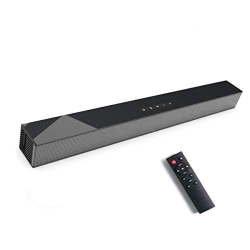 Barras de Sonido para TV, Bluetooth 5.0, Profesional Sonido Envolvente Altavoz para TV/Home Cinema, Apoyo HDMI/Coaxial/AUX/óptico/USB, Compatible para TV, Moviles, Tableta,Montable en la Pared (60CM)