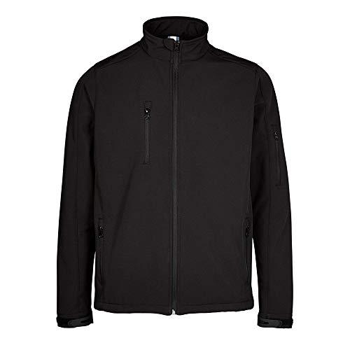 Expert Workwear Herren Softshell-Jacke, regenabweisend, winddicht, weich, warm, Schwarz