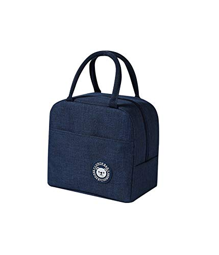 A Navy Thermal Small Lunch Bag, Portable Insulation Bag, Lunch...