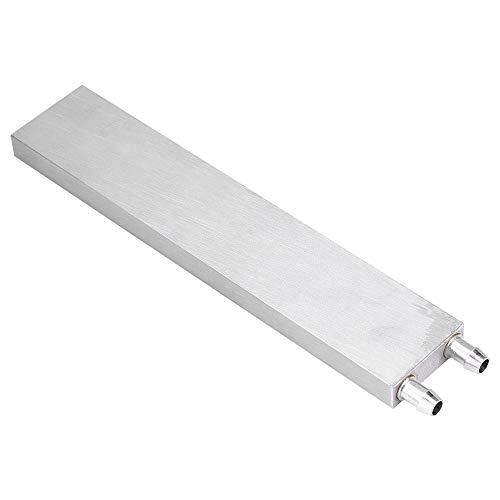 Eboxer Blocco di Raffreddamento ad Acqua Alluminio per Liquido di Raffreddamento ad Acqua Sistema di dissipatore di Calore Argento per CPU Grafica radiatore Dissipatore di Calore(40 * 200 * 12mm)