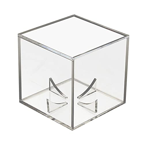 YIPUTONG Vetrina acrilica Universale da Golf Vetrina 8 * 8 * 8 cm Vetrina Trasparente, Vetrina Antipolvere per Pallina da Tennis Baseball Pallina da Golf Figure Modelli Orologi