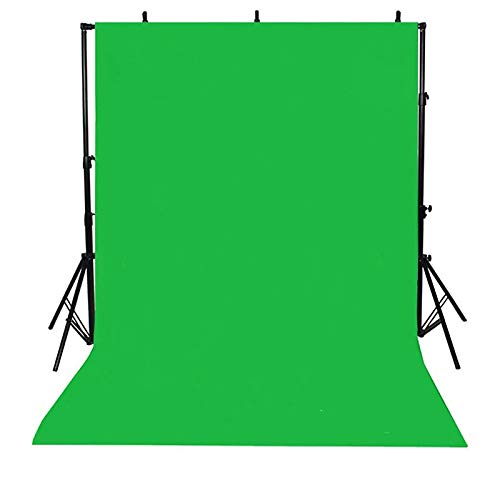 Hourongw 3 Ft X 5 Ft / 0.9 X 1.5 M Photography Background, Foldable, Green Screen Washing, Photo Background, Photo Video Studio, Muslin Fabric Greenscreen for Photography, Video and Tv