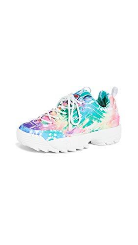 Fila Women's Disruptor II TIE DYE Sneaker, Multi/White/White, 6