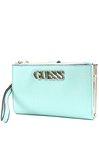 Guess UPTOWN CHIC SLG DBL ZIP ORGNZR, SMALL LEATHER GOODS Donna, Turchese, UNI