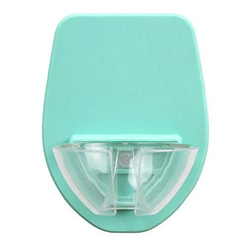 HUKZ Badewanne Weinregal,Watt Kunststoff Weinglashalter für die Dusche im Bad Rotwein Glashalter(Größe: 6,4 x 4,1 x 0,2 Zoll) (Grün)
