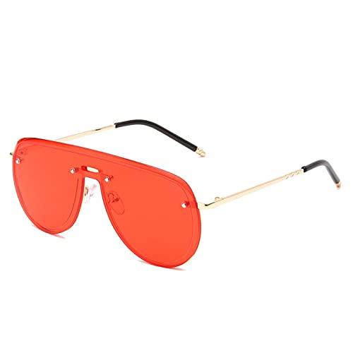 Sunglasses Gafas de Sol de Moda Gafas De Sol De Piloto De Aleación Sin Montura Vintage para Hombres, Gafas De Sol Gradua